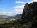 Vista de la Vall de Gallinera i penyes de la serra de la Foradada.JPG