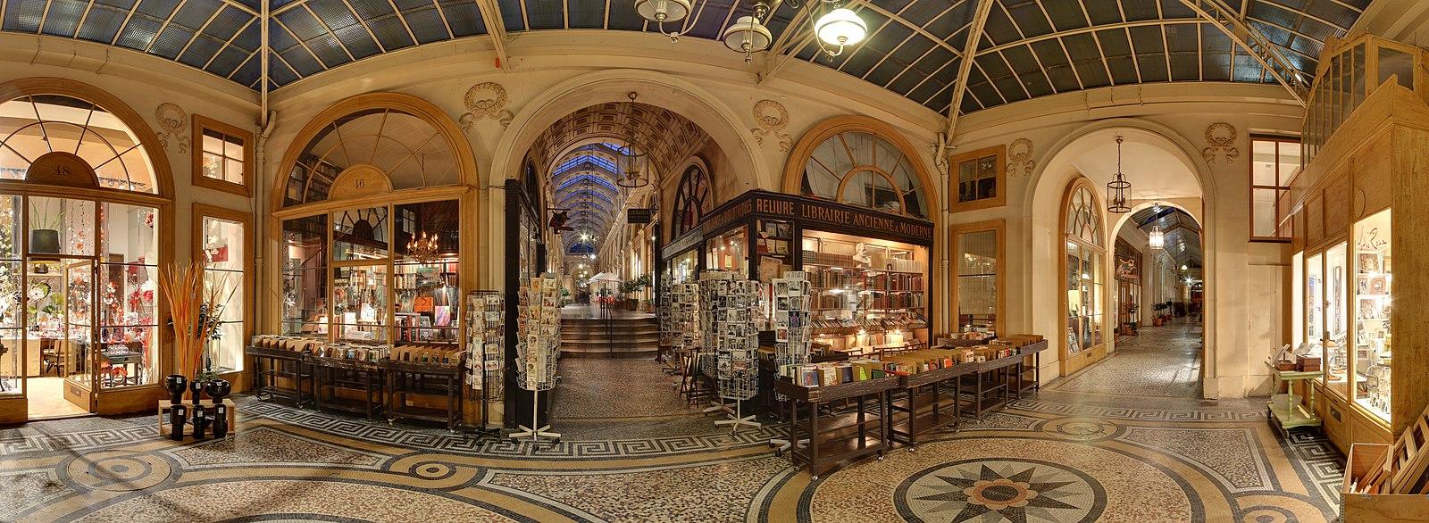 Galerie Vivienne Paris Inside Panorama
