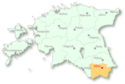 Location of Võru
