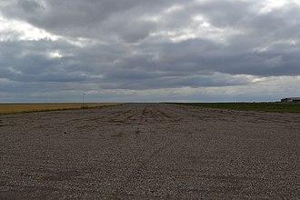 RCAF Station Vulcan - Image: Vulcan Aerodrome Runway