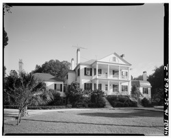 WEST (FRONT) ELEVATION - Arcadia Plantation, U.S. Highway 17 vicinity, Georgetown, Georgetown County, SC HABS SC,22-GEOTO.V,5-2.tif