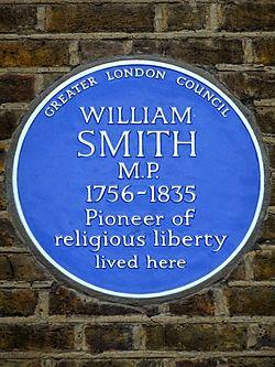 Photo of William Smith blue plaque