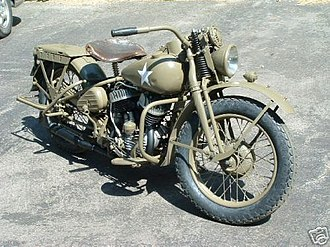 Harley-Davidson WLA - Mostly-restored WLA originally sent to Russia
