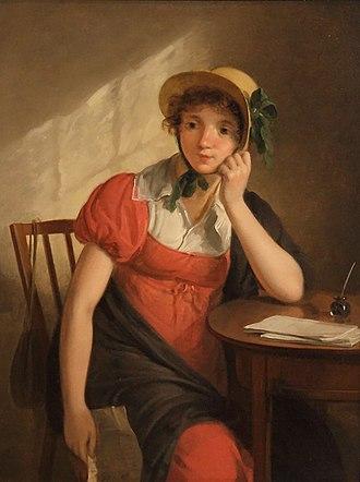 Adriaan de Lelie - Image: WLANL karinvogt Adriaan de Lelie, meisje met brief