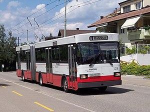 Trolleybuses in Winterthur - Image: WV Winterthur 128