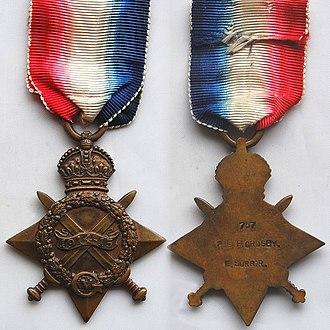 Angus McGill Mowat - Image: WW1 1914 15 Star