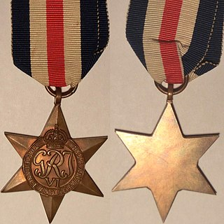 France and Germany Star British Commonwealth military campaign medal