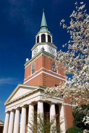 Wake Forest University School of Divinity - Image: Wait Chapel Closeup