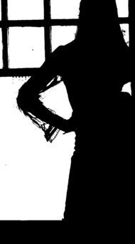 Waiting by Window Silhouette.png