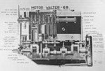Walter 6 B, příčný řez (1928) A.jpg