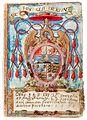 Wappen Otto von Waldburg 1570 (aus dem Stammbuch des Feliciano Ninguarda).jpg