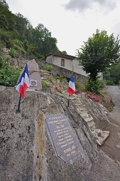 The war memorial at Luscan in the Haute-Garonne department of France.