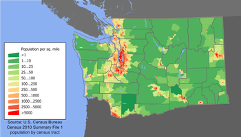 Washington State Population Map