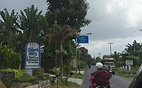 Welcome Gate to Sidamanik, Simalungun 02.jpg