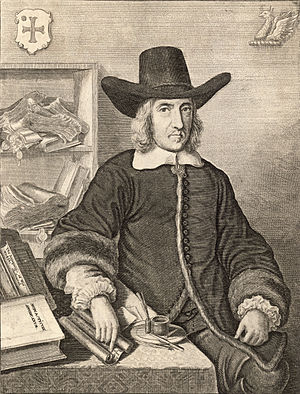 William Dugdale - Sir William Dugdale of Blyth Hall in 1656: an etching by Wenceslaus Hollar