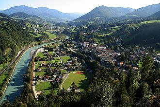 Werfen - View from Hohenwerfen Castle