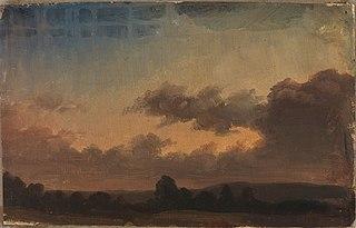 Pilvinen taivas maiseman yllä, harjoitelma
