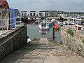West Bay, harbour slipway and new flats - geograph.org.uk - 550757.jpg
