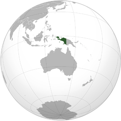 Location of Netherlands New Guinea