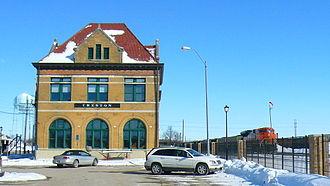 Creston, Iowa - Image: West end old station
