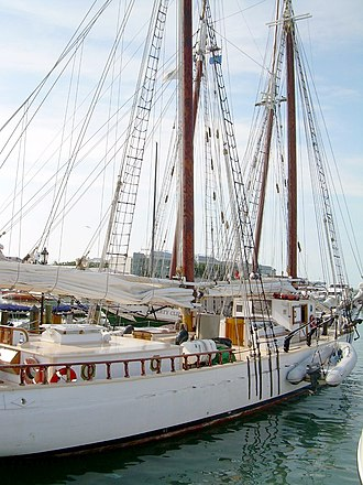 Western Union (schooner) - Western Union docked in Key West harbor, 2006.