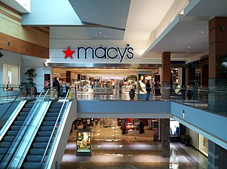 Westfield Wheaton - Mall entrance to Macy's store, viewed from the upper level