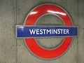 Westminster station Circle roundel.JPG