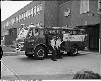 Toronto Fire Services - The Weston Fire Department served Weston until it was absorbed by York Fire Department. The York Fire Department was itself amalgamated with other Toronto fire services in 1998.