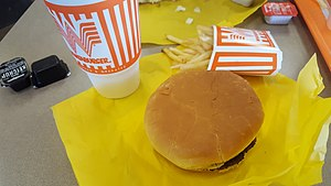 Whataburger - A Whataburger, french fries, and a soft drink at a Whataburger franchise in College Station, TX