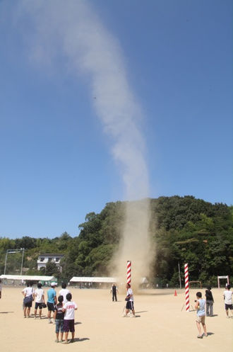 Whirlwind - A dust devil at school ground