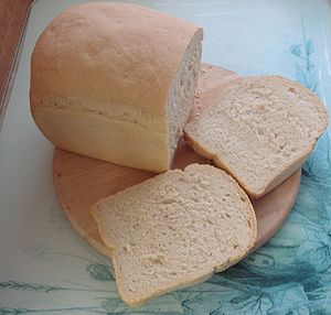 White bread, made and photographed by ElinorD