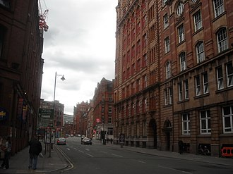 Whitworth Street - Whitworth Street, Manchester city centre, in 2010