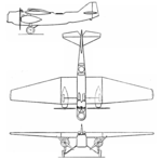 Wibault 220 RN3 3-view Aero Digest October,1930.png