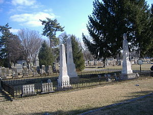 Charles A. Wickliffe - Burial site in Bardstown, Kentucky