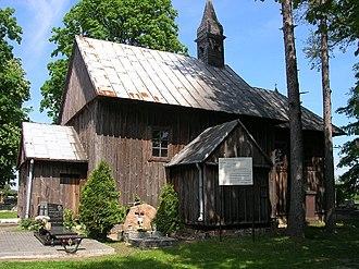 Sobota, Łódź Voivodeship - Wooden chapel