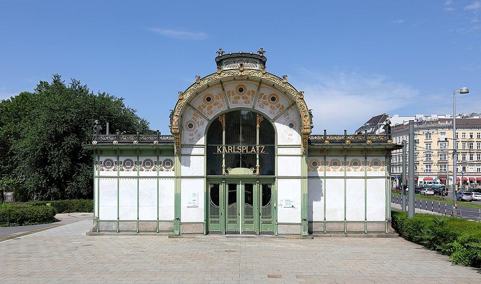 Wien - Karlsplatz, Otto-Wagner-Pavillon (2)
