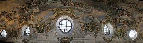 Wien 2012 Fresco - Kuppel - Panorama in der Karlskirche 1.jpg