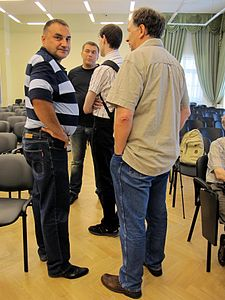 Wiki Party in Moscow 2013-05-18 (Before; Krassotkin; 09).JPG