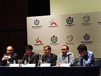 Wikimanía 2015 - Day 2 - Press Conference - LMM - México D.F. (7).jpg