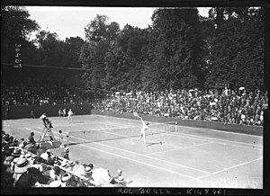World Hard Court Championships - 1913 World Hard Court Championships men's final between Anthony Wilding and André Gobert (15 June 1913)