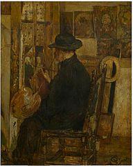 Willem Linnig II in zijn atelier