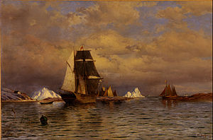 William Bradford (painter) - Image: William Bradford Looking out of Battle Harbor Google Art Project