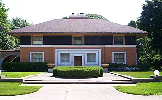 Frank Lloyd Wright - William H. Winslow House (1893) in River Forest, Illinois