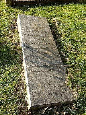 William Scoresby Routledge - Scoresby's grave at Putney Vale Cemetery, London in 2014