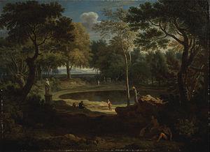 William Taverner (artist) - William Taverner Classical Landscape, 1760