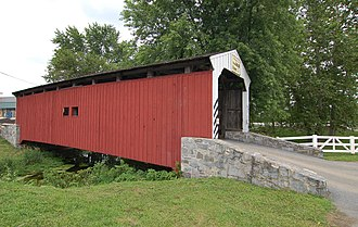 Willow Hill Covered Bridge - Image: Willow Hill Covered Bridge Side View 3000px