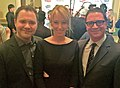 Wilson Cleveland (Derek), Alexis Boozer (Bryn) and Joshua Malina at the inaugural IAWTV Awards.jpg