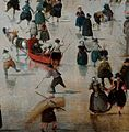 Winter landscape with skaters, by Hendrick Avercamp detail5.jpg