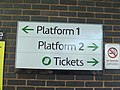 Witton Station - sign - Platform 1 and 2 - Tickets (7951339214).jpg