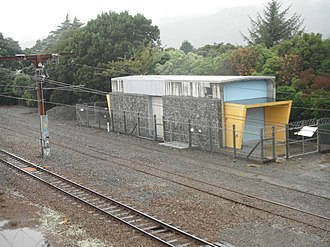 Traction substation - Woburn rail traction substation in Lower Hutt, New Zealand, supplying 1500 VDC to the electrified Hutt Valley Line.